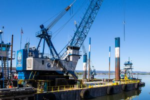 Crane Barge at JT Marine Vancouver