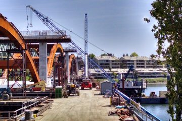 Sellwood Bridge Heavy Civil Construction JT Marine performs work